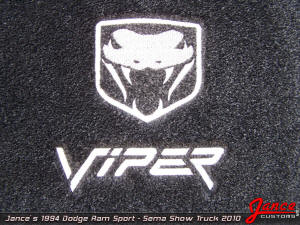 "Embroidered Dodge Viper ""Fangs"" Logo"